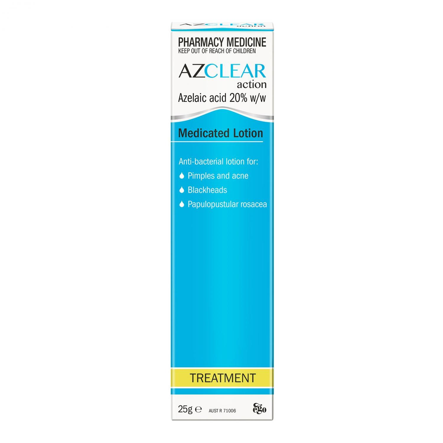 Thumbnail for Azclear Action Medicated Lotion 25g