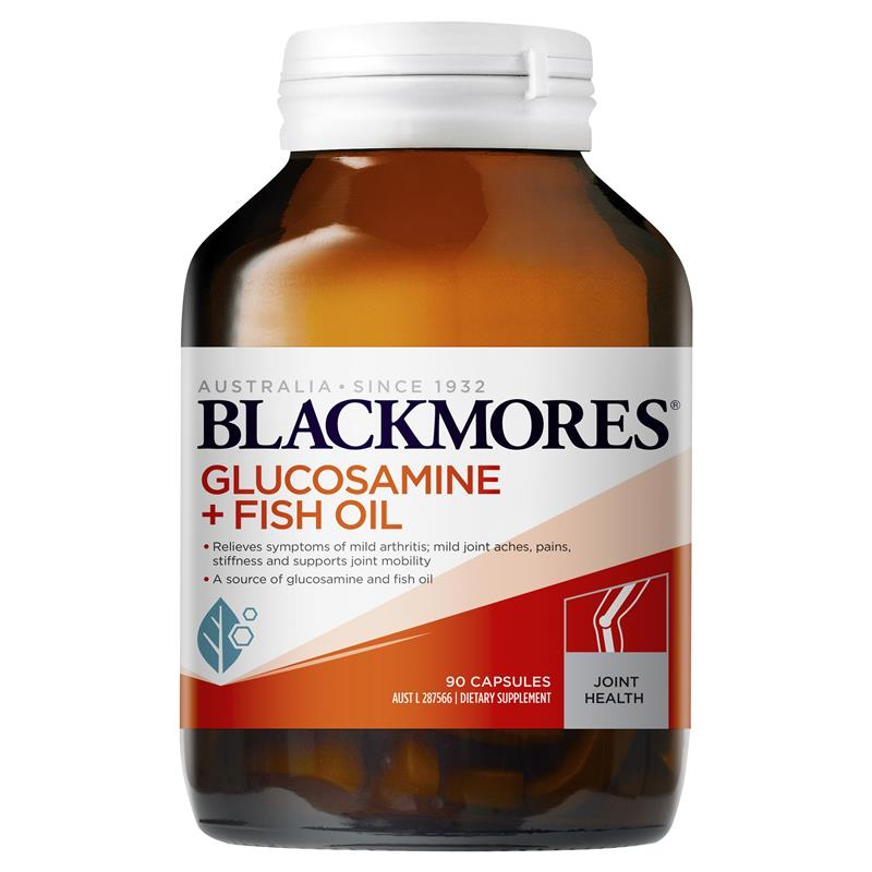 Image 1 for Blackmores Glucosamine + Fish Oil Capsules 90