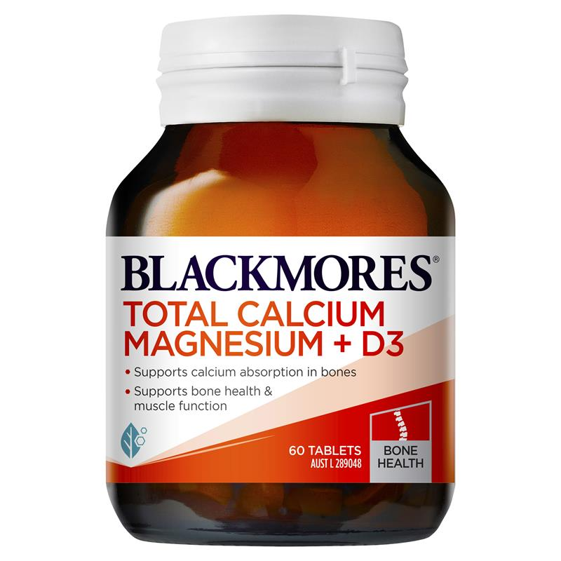 Image 1 for Blackmores Total Calcium + Magnesium+ D3 Tablets x 60