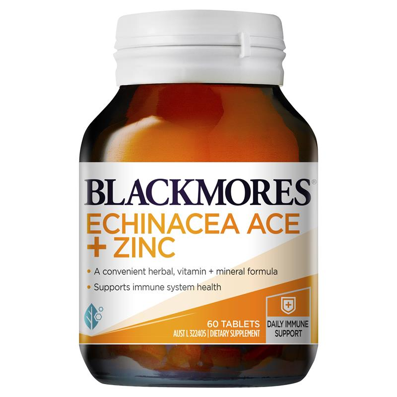 Image 1 for Blackmores Echinacea ACE + Zinc Tablets 60