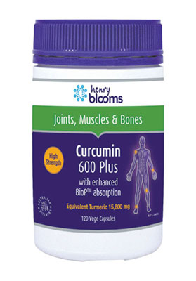 Thumbnail for Henry Blooms Curcumin 600 Plus Capsules x 120