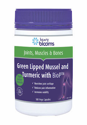 Thumbnail for Henry Blooms Green Lipped Mussel and Turmeric with BioP™ Capsules x 100