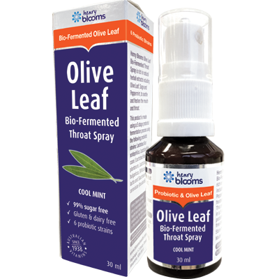 Image 1 for Henry Blooms Olive Leaf Throat Spray 30mL