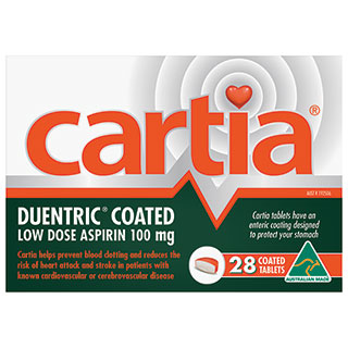 Image 1 for Cartia 100mg Aspirin 28 Tablets