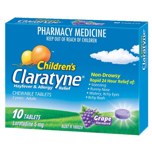Thumbnail for Claratyne Children's Chewable Tablets x 10