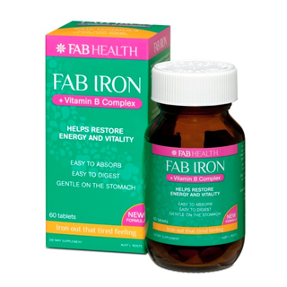 Thumbnail for Fab Iron + Vitamin B Complex Tablets 80