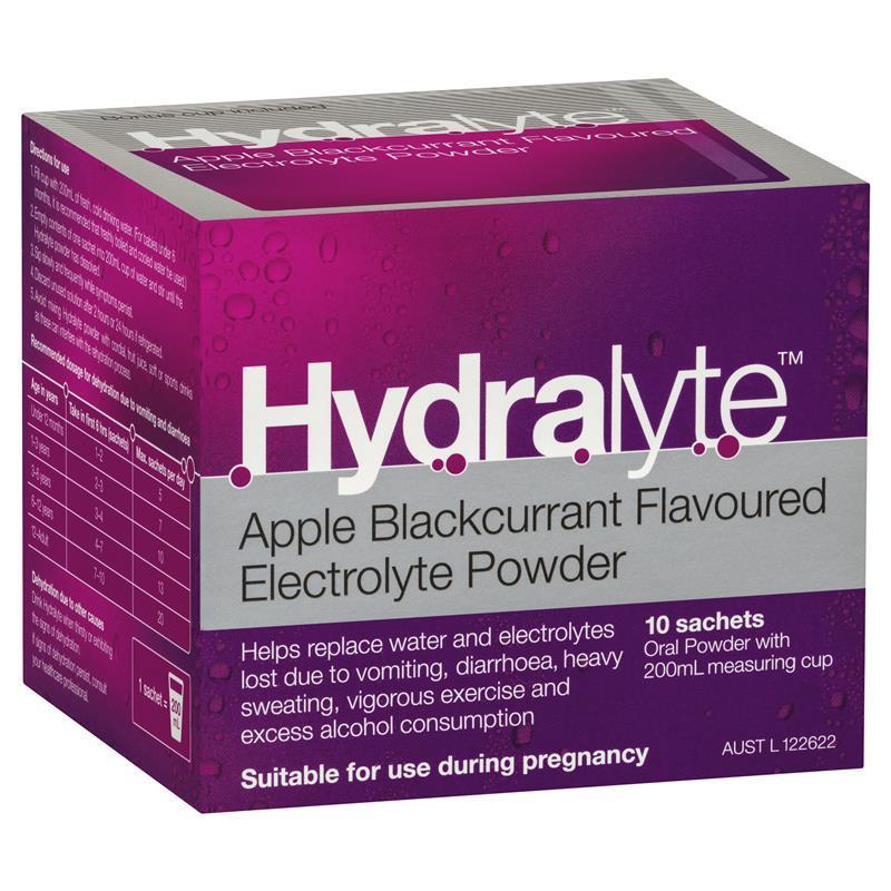 Thumbnail for Hydralyte Sachets Apple Blackcurrant  x 10