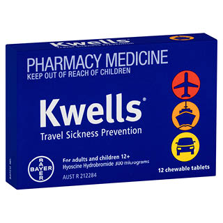 Thumbnail for Kwells Travel Sickness 12 Tablets