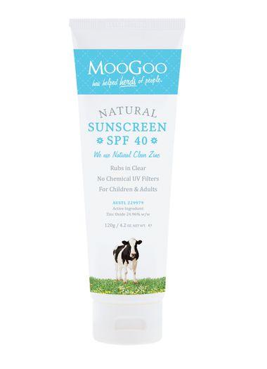 Image 1 for MooGoo Natural Sunscreen SPF 40 Lotion 120g