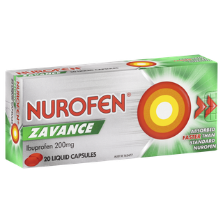 Thumbnail for Nurofen 200mg Zavance Liquid Capsules  x 20
