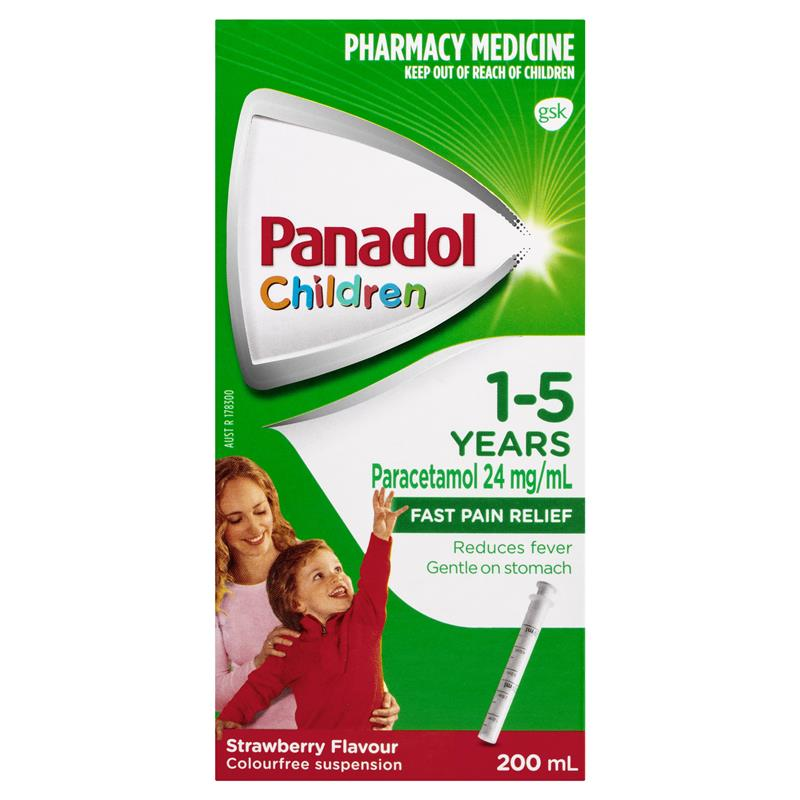 Image 1 for Panadol Children 1-5 Years Colour Free Strawberry Flavour 200mL