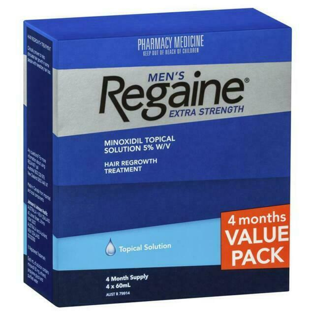 Thumbnail for Regaine For Men Extra Strength Solution 5% 60mL 4 Month Pack