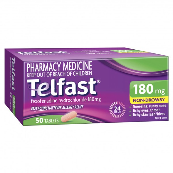 Image 1 for Telfast 180mg Tablets x 50