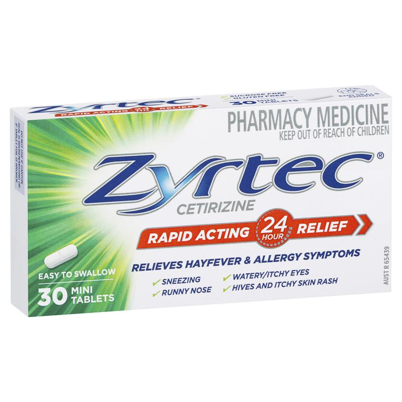 Thumbnail for Zyrtec 10mg Tablets 30