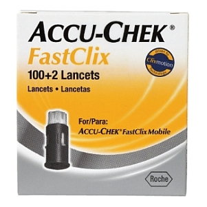 Thumbnail for Accu-Chek Mobile FastClix Lancets 100 + 2