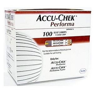 Image 2 for Accu-Chek Performa Blood Glucose Meter Test Strips 100