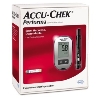 Thumbnail for Accu-Chek Blood Glucose Meter Kit Performa