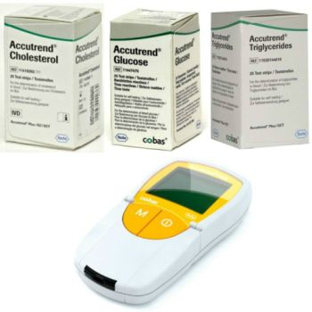 Thumbnail for Accutrend Plus System Bundle - Monitor Device, Glucose, Cholesterol & Triglycerides Strips