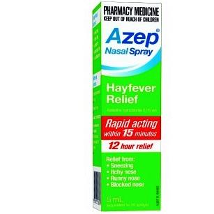 Thumbnail for Azep Hayfever Relief  Nasal Spray 5mL
