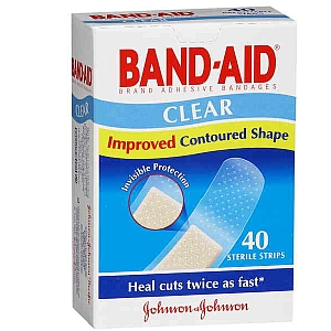 Thumbnail for Band-Aid Clear Strips 40