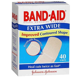 Thumbnail for Band-Aid Extra Wide Strips 40