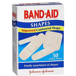 Thumbnail for Band-Aid Plastic Strips Shapes 50