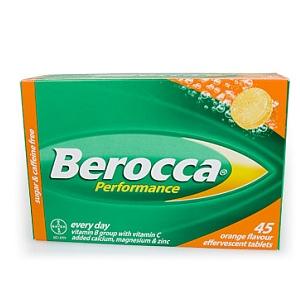 Thumbnail for Berocca Performance Effervescent Orange Tablets 45