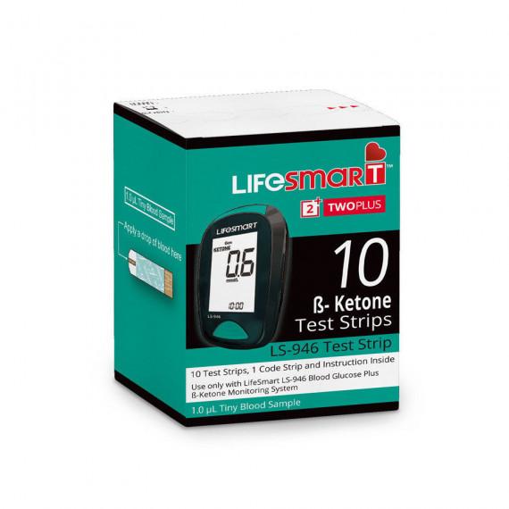 Thumbnail for LifeSmart Two Plus Ketone Test Strips (For LS-946) 10 Strips