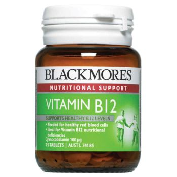 Thumbnail for Blackmores Vitamin B12 100mcg 75 tablets