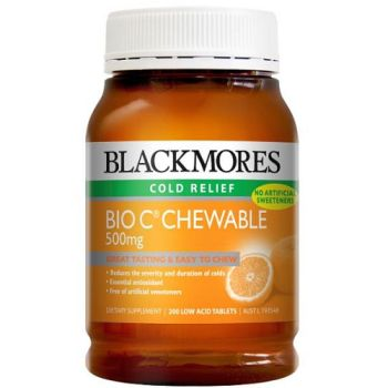 Thumbnail for Blackmores Bio C 500mg Chewable Tablets 200