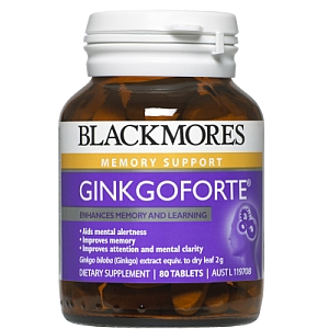 Image 1 for Blackmores Ginko Forte Tablets x 40