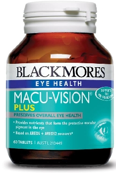 Thumbnail for Blackmores Macu Vision Plus Tablets x 60