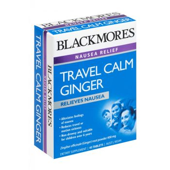 Image 1 for Blackmores Travel Calm Ginger Tablets X 45