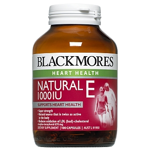 Image 1 for Blackmores Natural Vitamin E 1000IU Capsules x 100