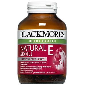 Image 1 for Blackmores Natural Vitamin E 500IU Capsules x 150