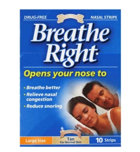 Thumbnail for Breathe Right Nasal Strips Large Tan x 10