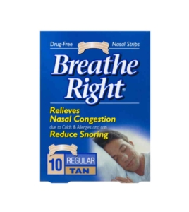 Thumbnail for Breathe Right Nasal Strips Regular Tan x 10