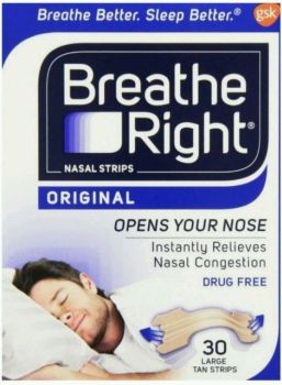 Thumbnail for Breathe Right Nasal Strips Large Tan x 30