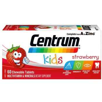 Thumbnail for Centrum Kids Multivitamin Chewable Strawberry Tablets x 60
