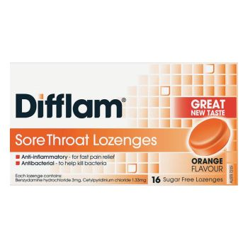 Image 1 for Difflam Lozenges Orange 16
