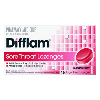 Thumbnail for Difflam Lozenges Raspberry 16