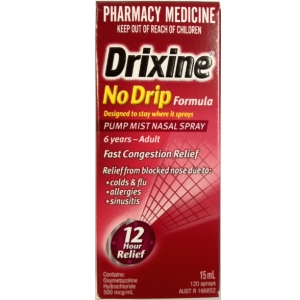 Image 1 for Drixine Nasal Spray No Drip Formula 15mL
