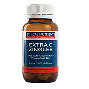 Thumbnail for Ethical Nutrients Extra C Zingles 50 Chewable tabs