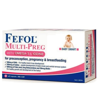 Thumbnail for Fefol Multi-Preg With Omega 3 & Iodine Capsules x 60