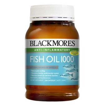 Thumbnail for Blackmores Fish Oil 1000mg  Capsules x 200