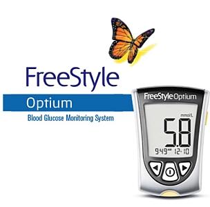 Freestyle Optium Blood Glucose Meter Bundle 40 Cashback