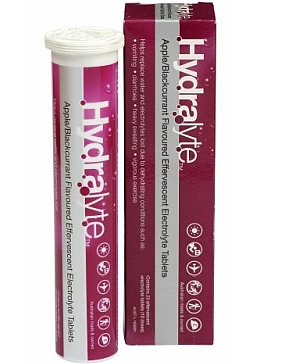 Image 1 for Hydralyte Effervescent 20 Tablets Apple/Blackcurrant Flavoured