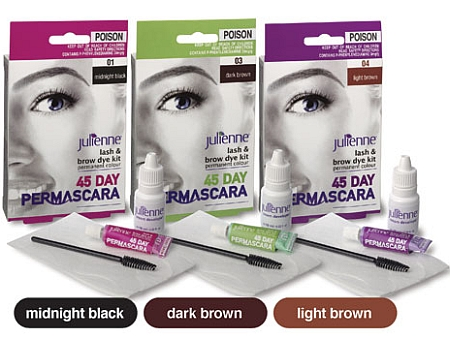 Julienne Permascara Lash & Brow Dye Kit Dark Brown - Towers ...