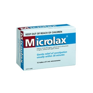 Thumbnail for Microlax Enemas 12 x 5mL