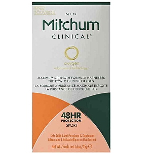 Thumbnail for Mitchum Clinical 48hr Proctection Sport Deodorant 45g